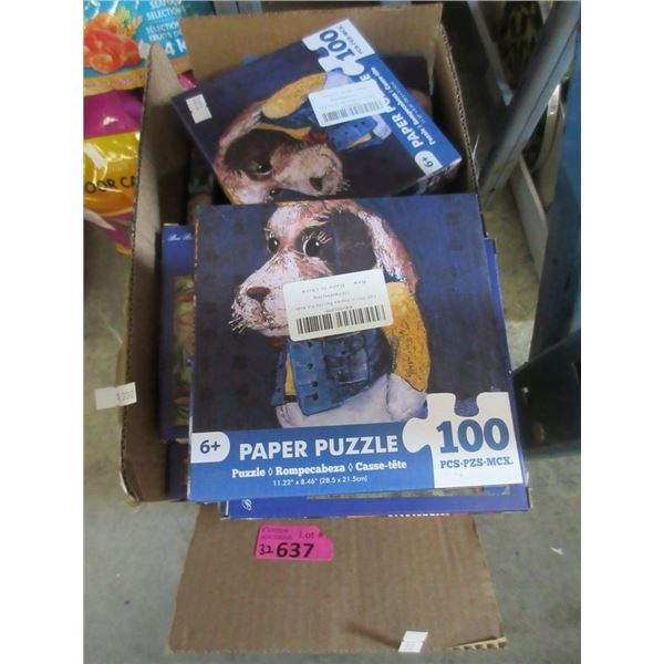 32 New 100 Piece Puzzles  - Age 6+