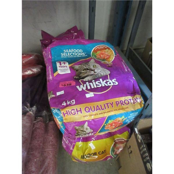 7 Bags of Whiskas Dry Cat Food