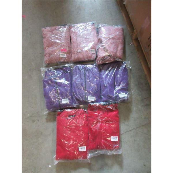 8 New Women's Zippered Fleece Jackets