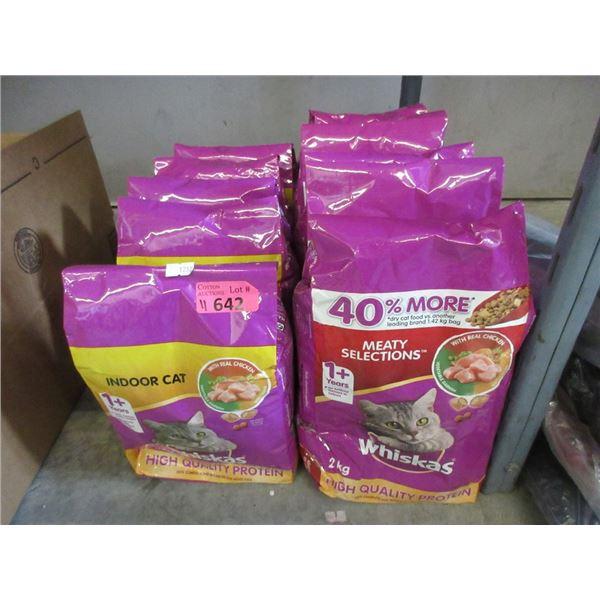 11 x Bags of Whiskas Dry Cat Food