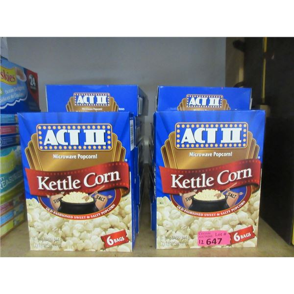 12 Boxes of ACT II  Microwave Popcorn