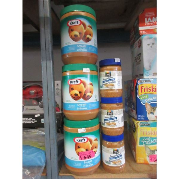 9 Assorted Containers of Peanut Butter