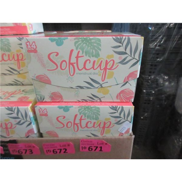 10 Boxes of 14 Softcup Menstrual Discs