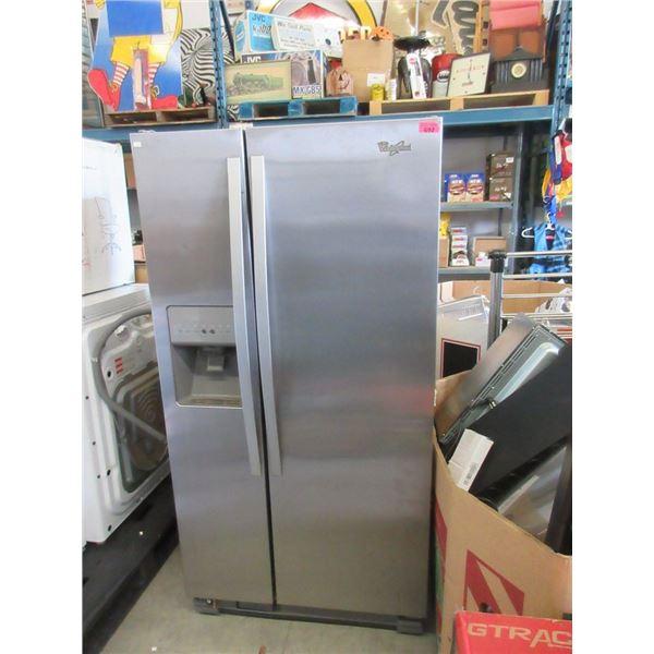Whirlpool Stainless Steel Refrigerator working
