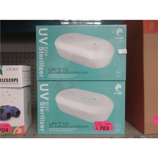 2 UM-T10 All  Purpose UV Box Sterilizers