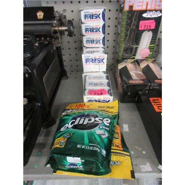 4 Boxes of Frisk Mints & 3 Bags of Eclipse Gum