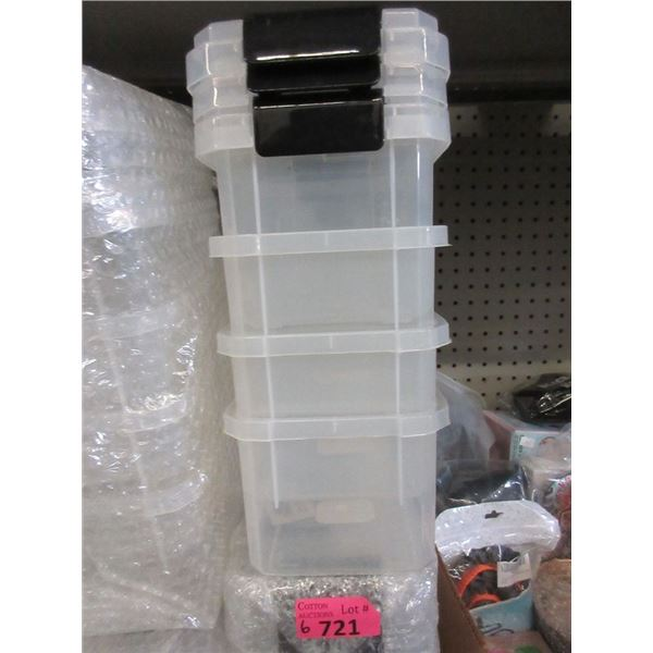 6 Four Packs of Small Plastic Latching Boxes