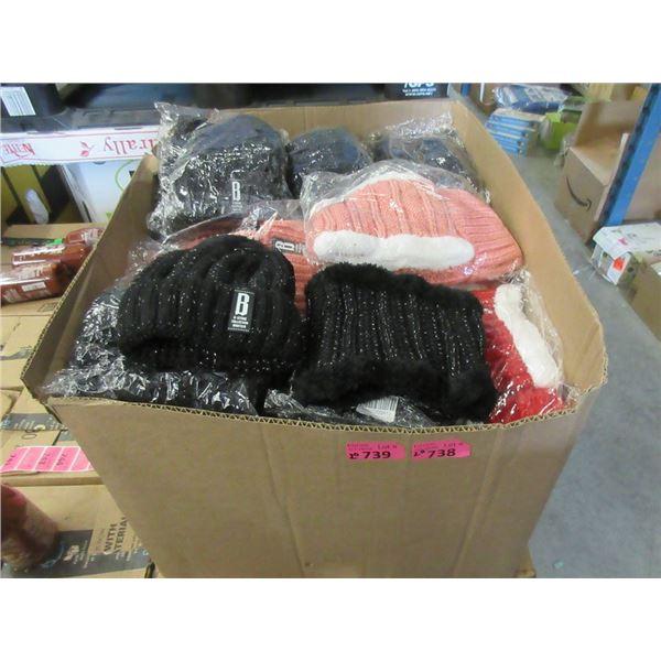 20 New Ladies Winter Hat & Neck Warmer Sets