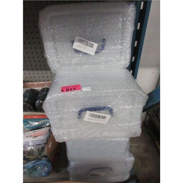 6 Four Packs of Plastic Storage Totes