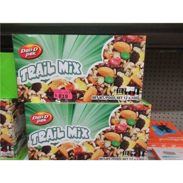 2 Cases of Dan-D Pak Trail Mix