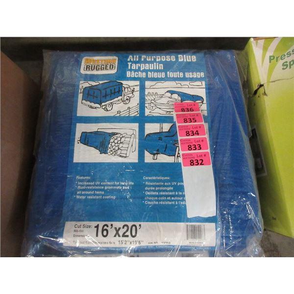 New 16' x 20' Blue All Purpose Tarp