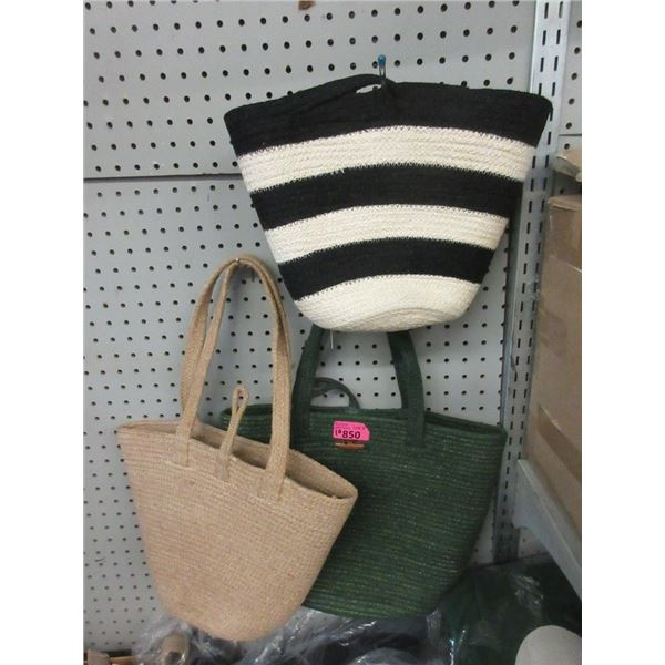 10 Assorted Jute Totes