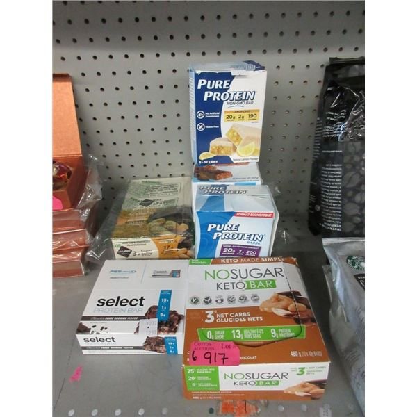 6 Boxes of Assorted Protein and Keto Bars