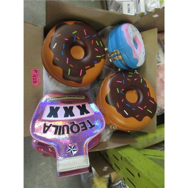 10 New Novelty Purses - Majority are Donuts