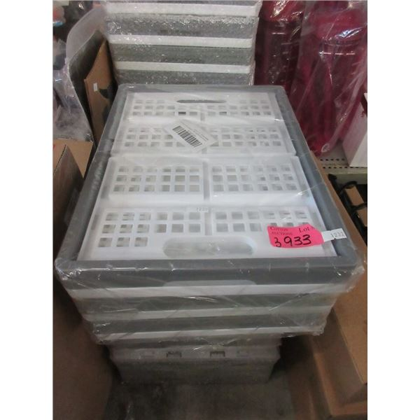 3 Packs of 3 Collapsible 16 Quart Crates