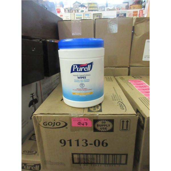 Case of 6 Tubs of Purell Hand Sanitizing Wipes