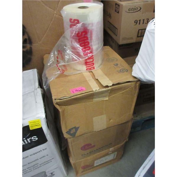 3 Cases of 4 Rolls of Bulk Food Bags