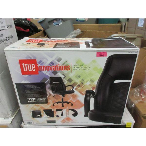 True Innovations Black Task Chair - Open box