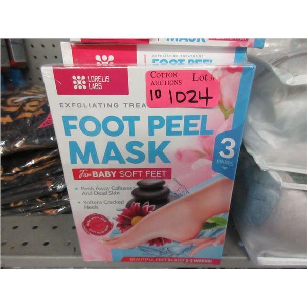 10 Packs of 3 Exfoliating Foot Peel Masks