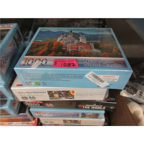 5 Assorted New 1000 Piece Jig Saw Puzzles