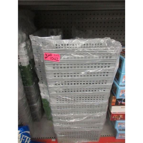 7 Stacks of New Plastic Organizing Baskets