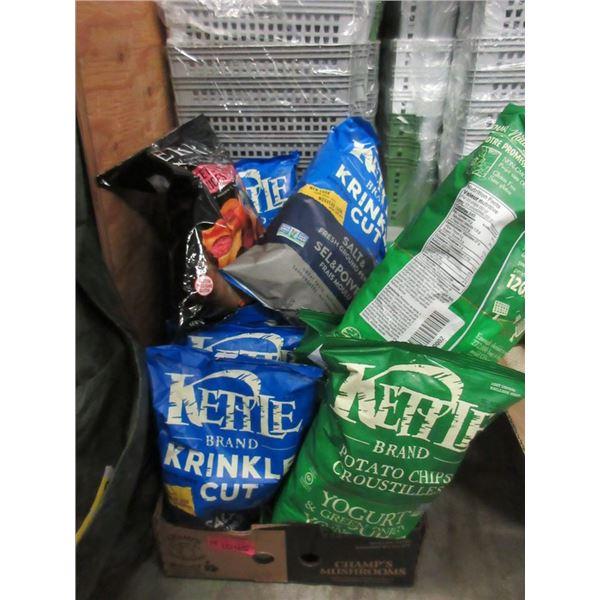 14 x 220 gram Assorted Kettle Chips