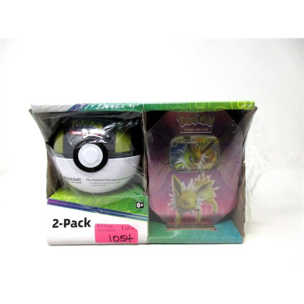 Pokemon 2-Pack Trading Cards & Poke Ball