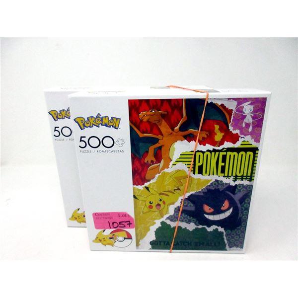 2 New 500 Piece Pokemon Jig Saw Puzzles