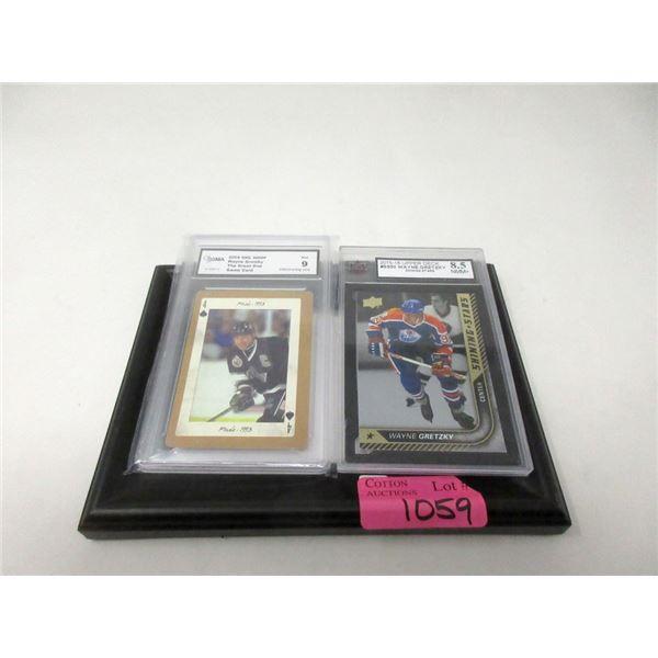 2 Graded Wayne Gretzky Hockey Cards
