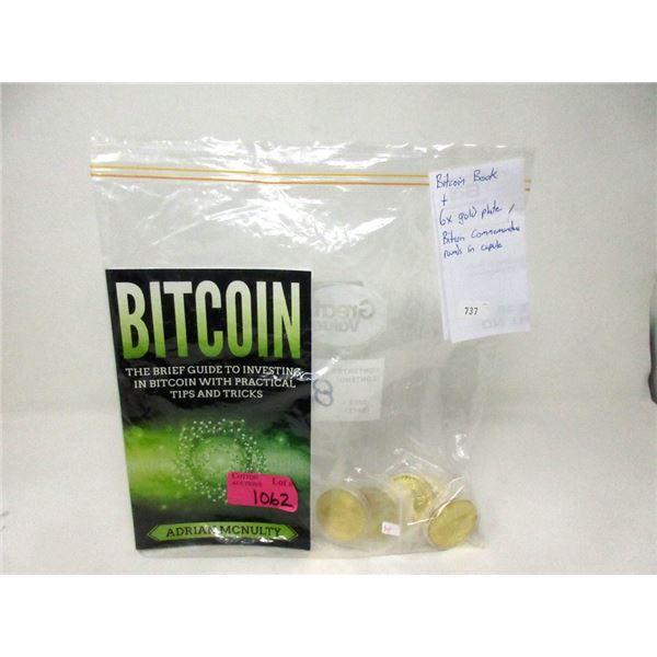 Bitcoin Book & 6 Bitcoin Commemorative Rounds
