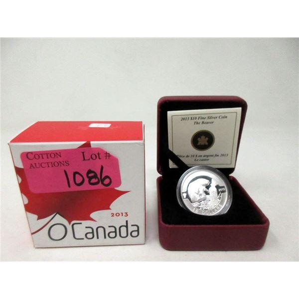 """1/2 Oz. Fine Silver 2013 Canada """"The Beaver"""" Coin"""