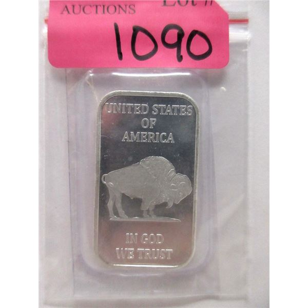 1 Oz. .999 Fine Silver Liberty / Buffalo Bar