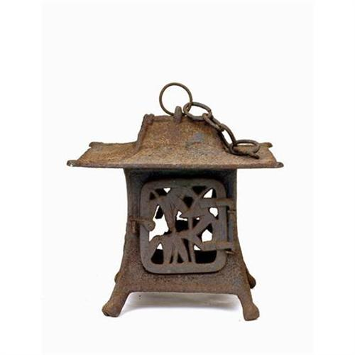 Old Japanese Cast Iron Pagoda Lantern Garden 2144426