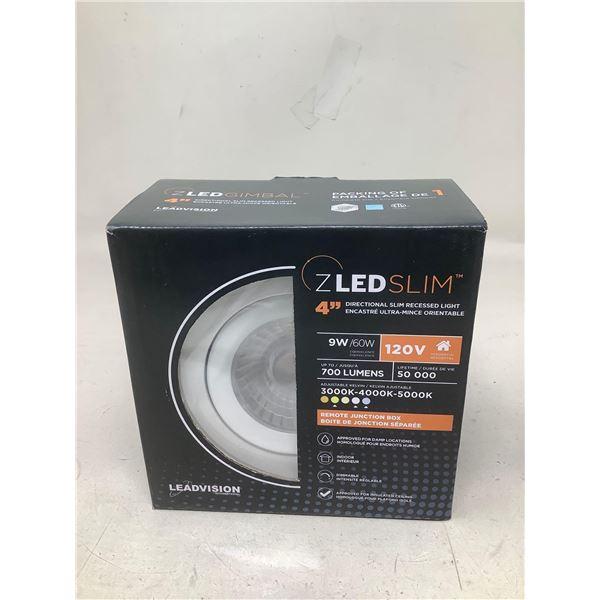 "ZLED Slim 4"" Directional Slim Recessed Light"