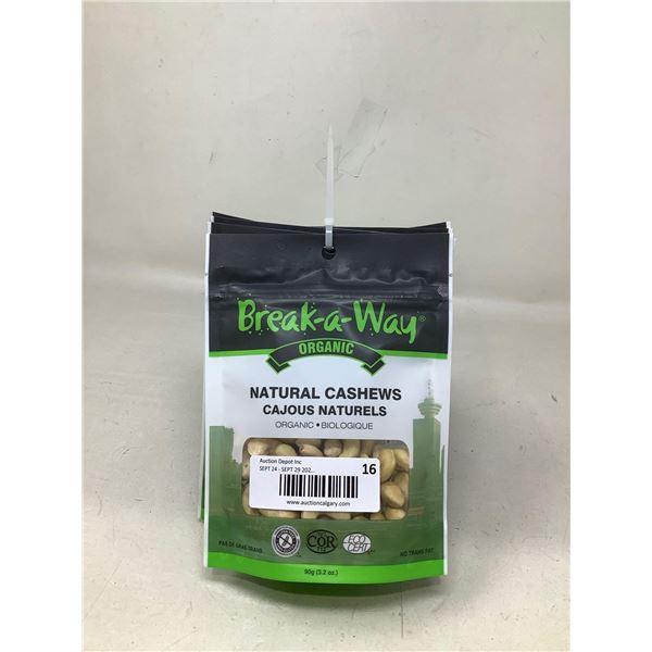 Break a Way Natural Cashews (6 X 90G)