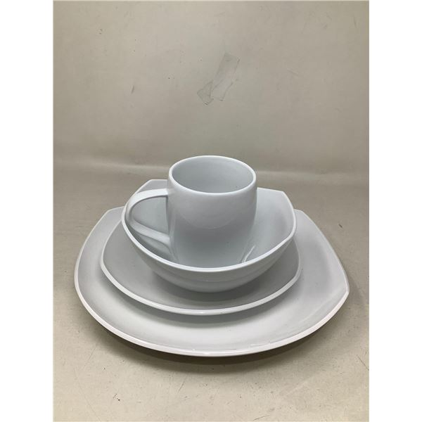 Lot Of 4 Matching Dishes And Mug (White)
