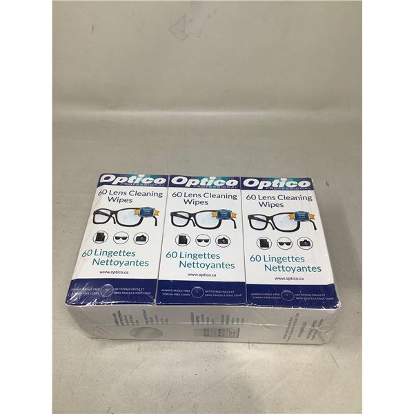 OpticoLens Cleaning Wipes (3 X 60 Wipes)