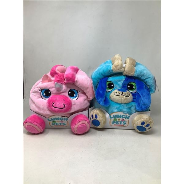 Lunch Pets Plush Toys Lot Of 2