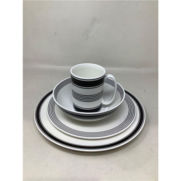 Lot Of 4 Matching Dishes And Mug (Stripes)