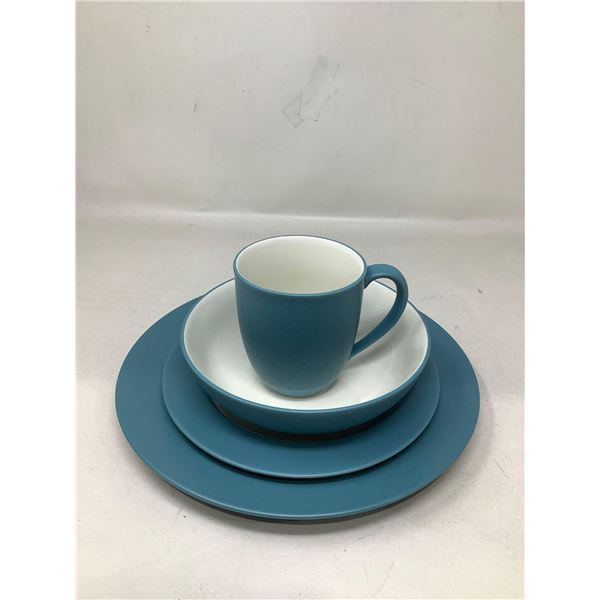Lot Of 4 Matching Dishes And Mug (Blue)