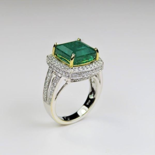 Luxury G.I.A. certified Natural Emerald