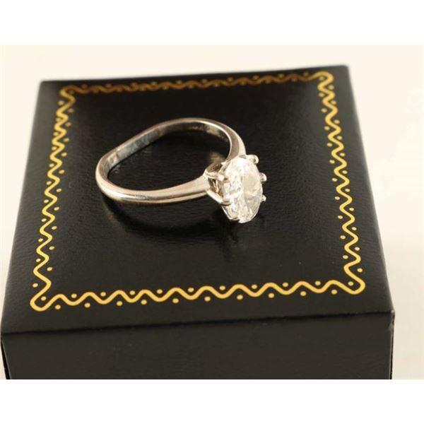 Ladies Oval Diamond Ring Set