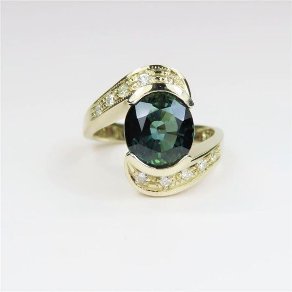 Natural Green Sapphire Ring