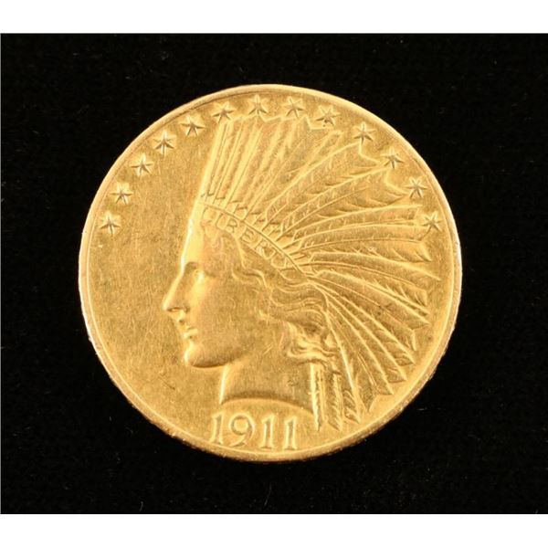 U.S. 1911 $10 Gold Indian Head Coin