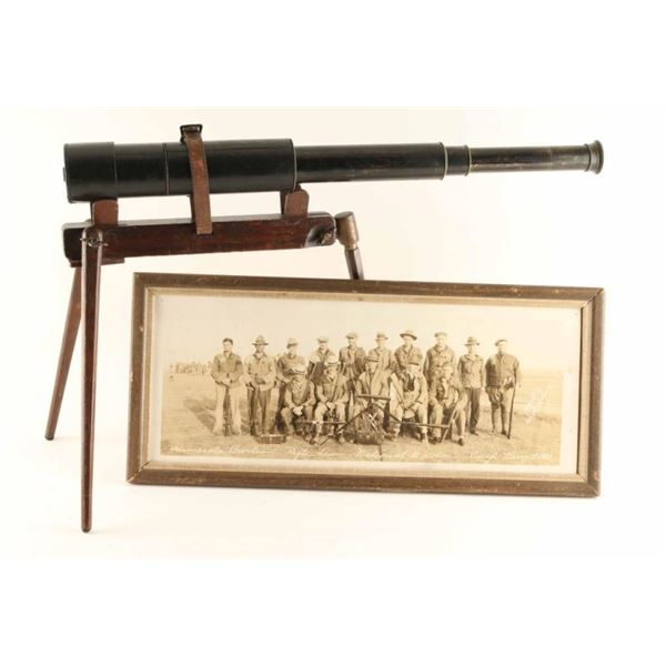 Early Spotting Scope w/ Original Wood Stand