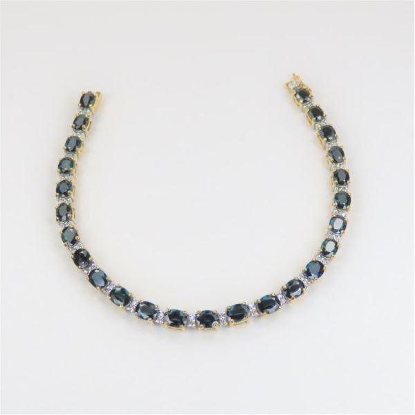 Splendid Royal Blue Sapphire and Diamond Bracelet