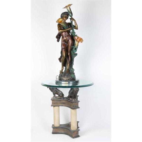 Fine Art Bronze Light by Auguste Moreau