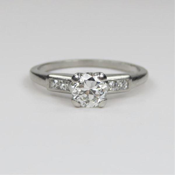 Antique Platinum Solitaire Diamond Ring