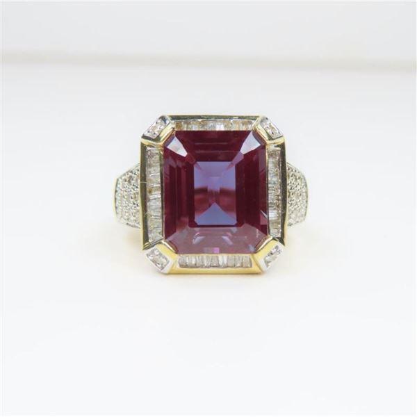 Alluring Created Alexandrite Ring