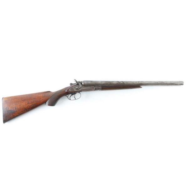 Wm Parkhurst SxS Hammer Gun 12 Ga SN: 8107